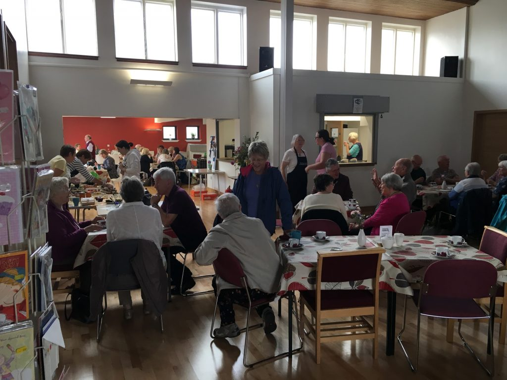 customers filled the café area making sure there was plenty of chat and donations